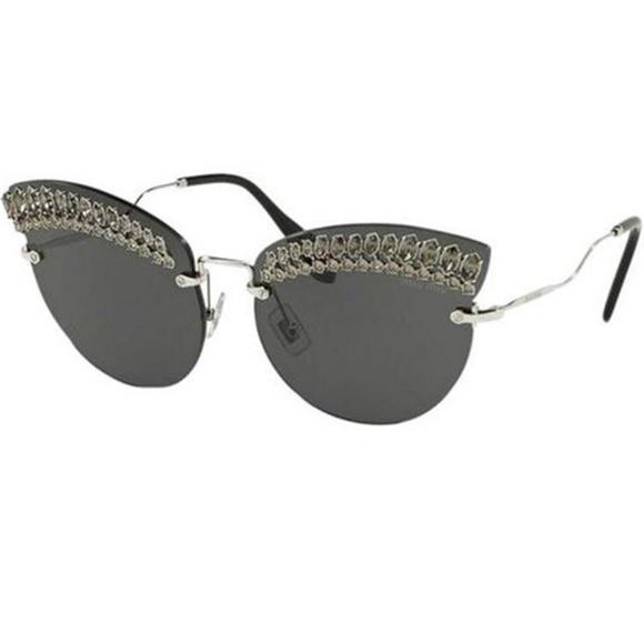 07289dc39cd Miu Miu Scenique Evolution Sunglasses Silver
